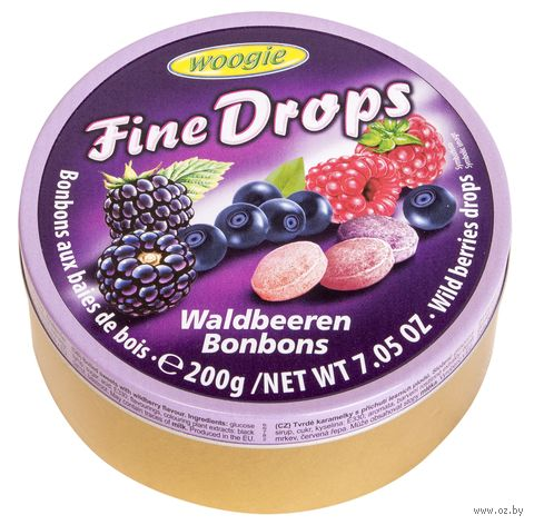 """Карамель леденцовая """"Fine Drops. Со вкусом лесных ягод"""" (200 г) — фото, картинка"""