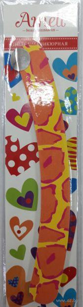 """Пилочка для ногтей с напылением """"Бумеранг"""" (арт. 1673971) — фото, картинка"""
