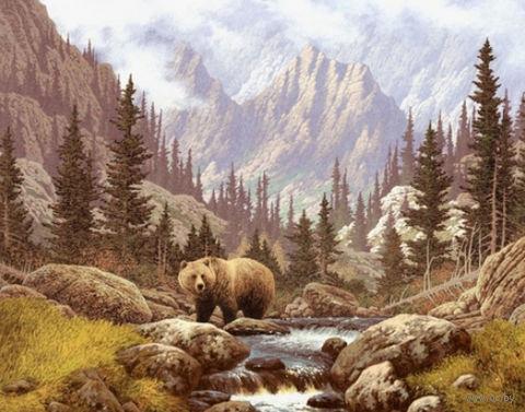 """Алмазная вышивка-мозаика """"Медведь на воле"""""""