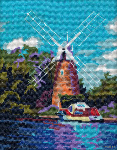 "Вышивка крестом ""Мельница"" (230x180 мм) — фото, картинка"