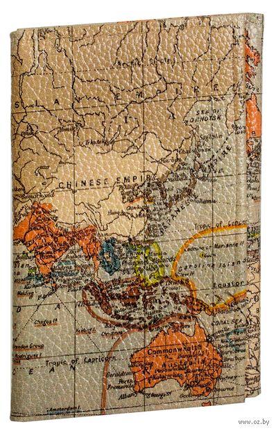"""Обложка на паспорт и автодокументы """"Карта мира"""" — фото, картинка"""