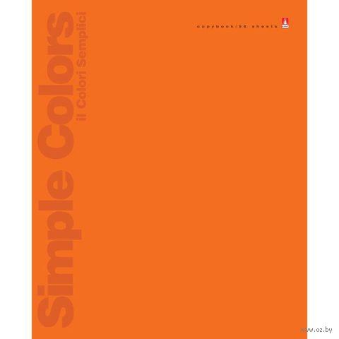 """Тетрадь общая в линейку """"Простые цвета"""" (96 листов; в ассортименте) — фото, картинка"""