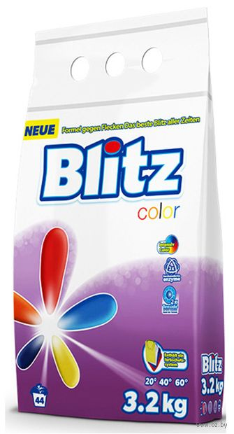 """Стиральный порошок """"Blitz. Color"""" (3,2 кг) — фото, картинка"""