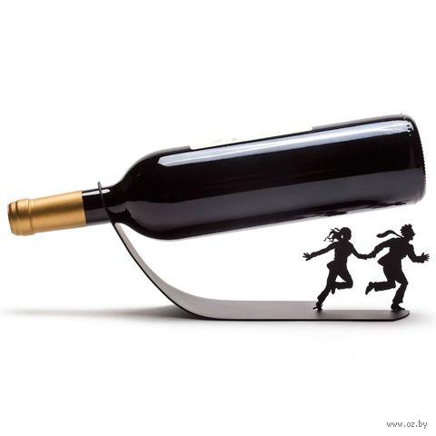 "Подставка для бутылок ""Wine for your life"" (черная)"