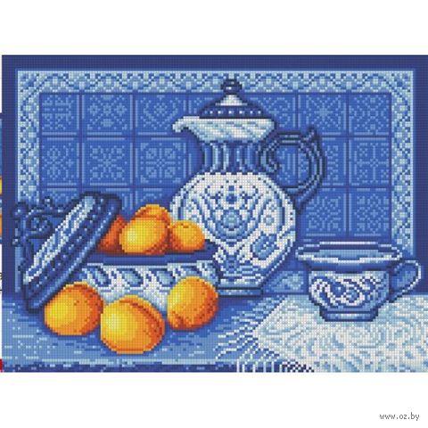"Алмазная вышивка-мозаика ""Натюрморт. Гжель"" (400х300 мм) — фото, картинка"