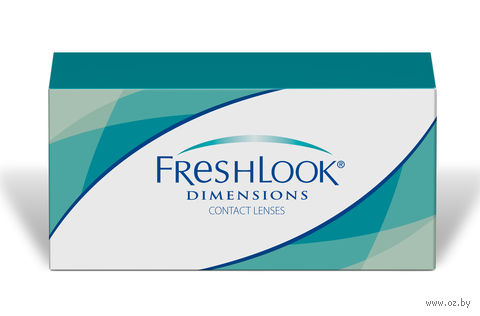 """Контактные линзы """"FreshLook Dimensions"""" (1 линза; -4,5 дптр; карибиан аква) — фото, картинка"""