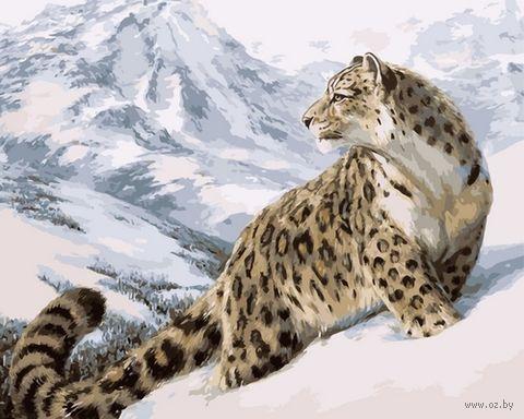 """Картина по номерам """"Снежный барс"""" (500х650 мм) — фото, картинка"""