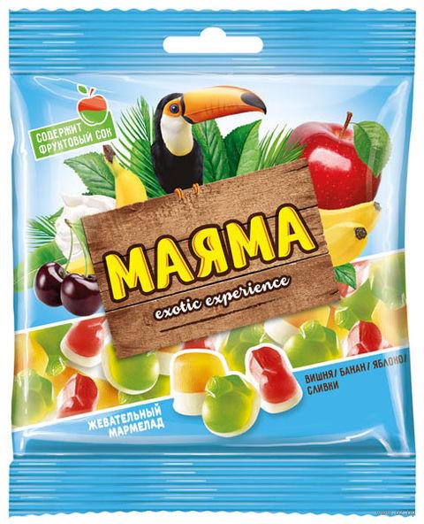 """Мармелад """"Маяма"""" (70 г; банан, яблоко и вишня) — фото, картинка"""