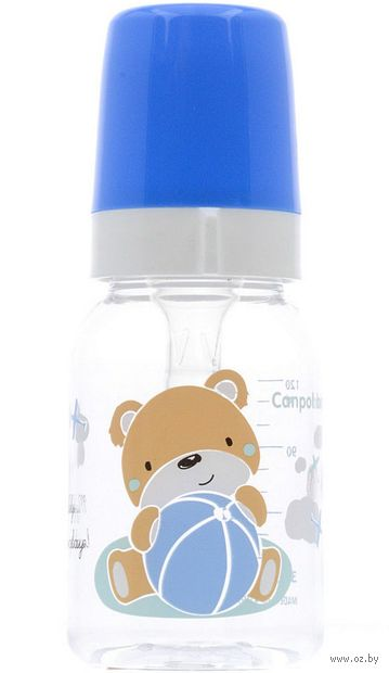 """Бутылочка для кормления """"Sweet fun"""" (120 мл; арт. 11/850_blu) — фото, картинка"""
