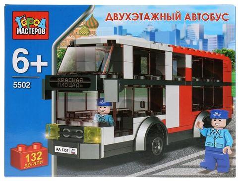 """Конструктор """"Двухэтажный автобус"""" (132 детали) — фото, картинка"""