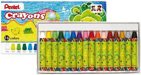 """Мелки восковые """"Crayons"""" (16 цветов)"""