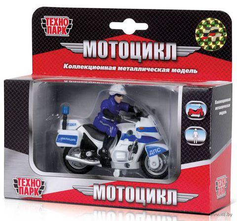 """Модель мотоцикла """"ДПС с фигуркой"""" (масштаб: 1/43)"""