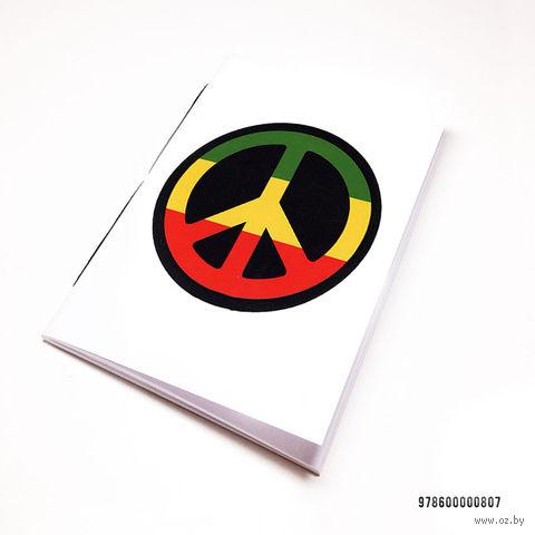 """Блокнот белый """"Peace"""" А7 (807)"""