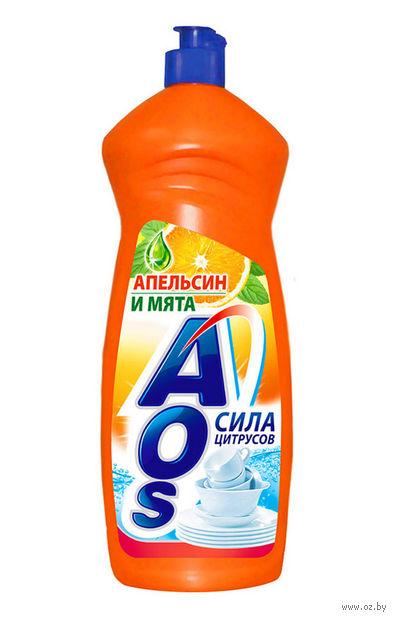 """Средство для мытья посуды """"Апельсин и мята"""" (1 кг) — фото, картинка"""