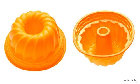 """Форма для выпекания силиконовая """"Кекс"""" (240х105 мм; оранжевый) — фото, картинка"""