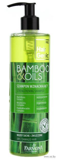 """Шампунь для волос """"Bamboo and Oils"""" (410 мл) — фото, картинка"""