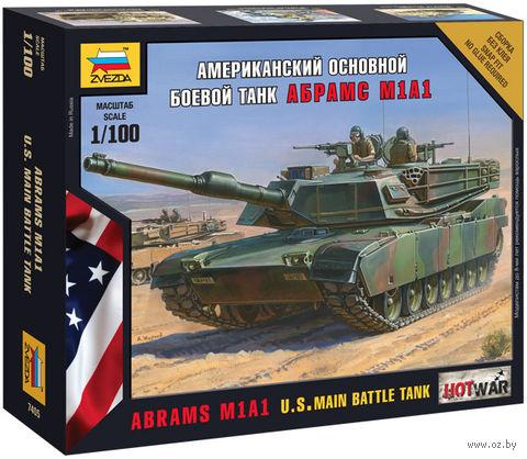 Американский основной боевой танк Абрамс М1А1 (масштаб: 1/100)