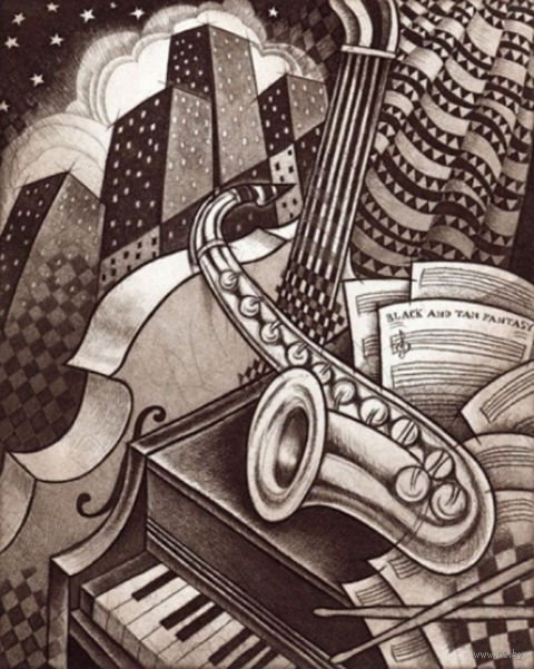 """Алмазная вышивка-мозаика """"Джаз в городе"""""""