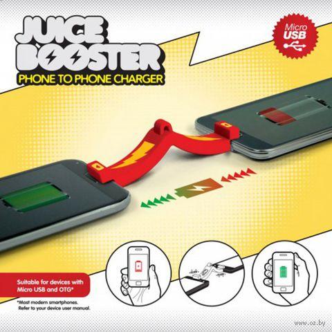"""Брелок-устройство для зарядки одного телефона от другого """"Juice Booster"""""""