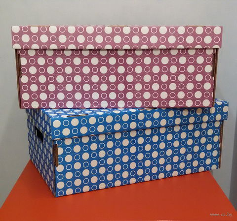 Набор коробок (2 шт.; фиолетовая и синяя)
