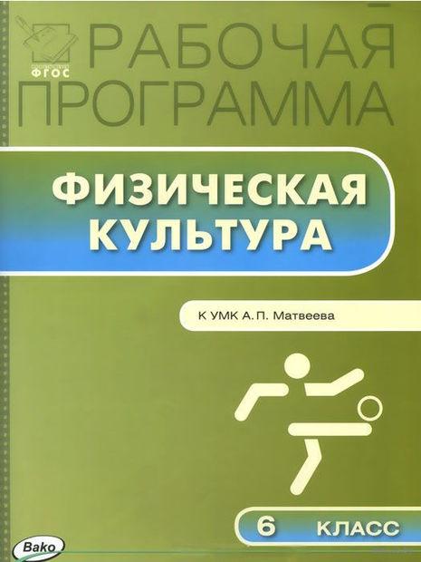 Физическая культура. 6 класс. Рабочая программа. К УМК А. П. Матвеева — фото, картинка