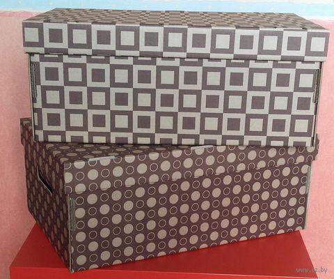 Набор коробок (2 шт.; цвет темно-коричневый) — фото, картинка