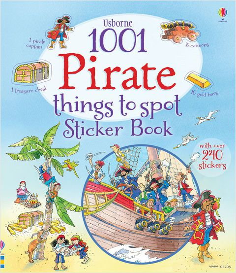 1001 Pirate Things to Spot. Sticker Book — фото, картинка