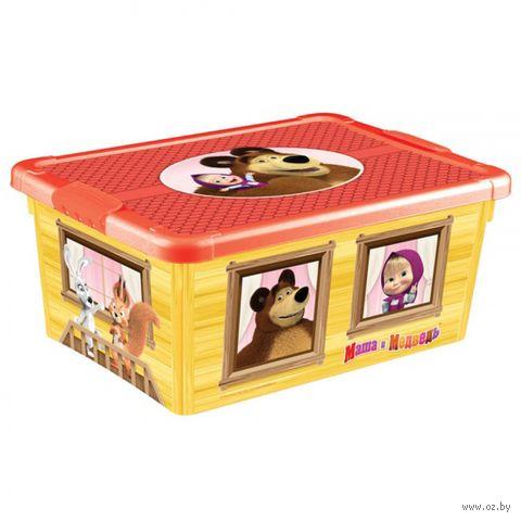 """Ящик для хранения с крышкой """"Маша и Медведь"""" — фото, картинка"""